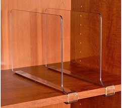 ClosetMate Beautiful Acrylic Shelf Dividers Clo... - $40.86