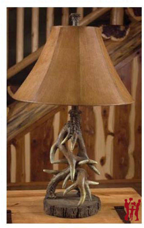 Deer Antler Table Lamp Rustic Cabin Lodge Wildlife Decor 29""