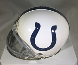 ANDREW LUCK - INDIANAPOLIS COLTS - AUTOGRAPHED COLTS LOGO MINI HELMET - W/ COA image 4