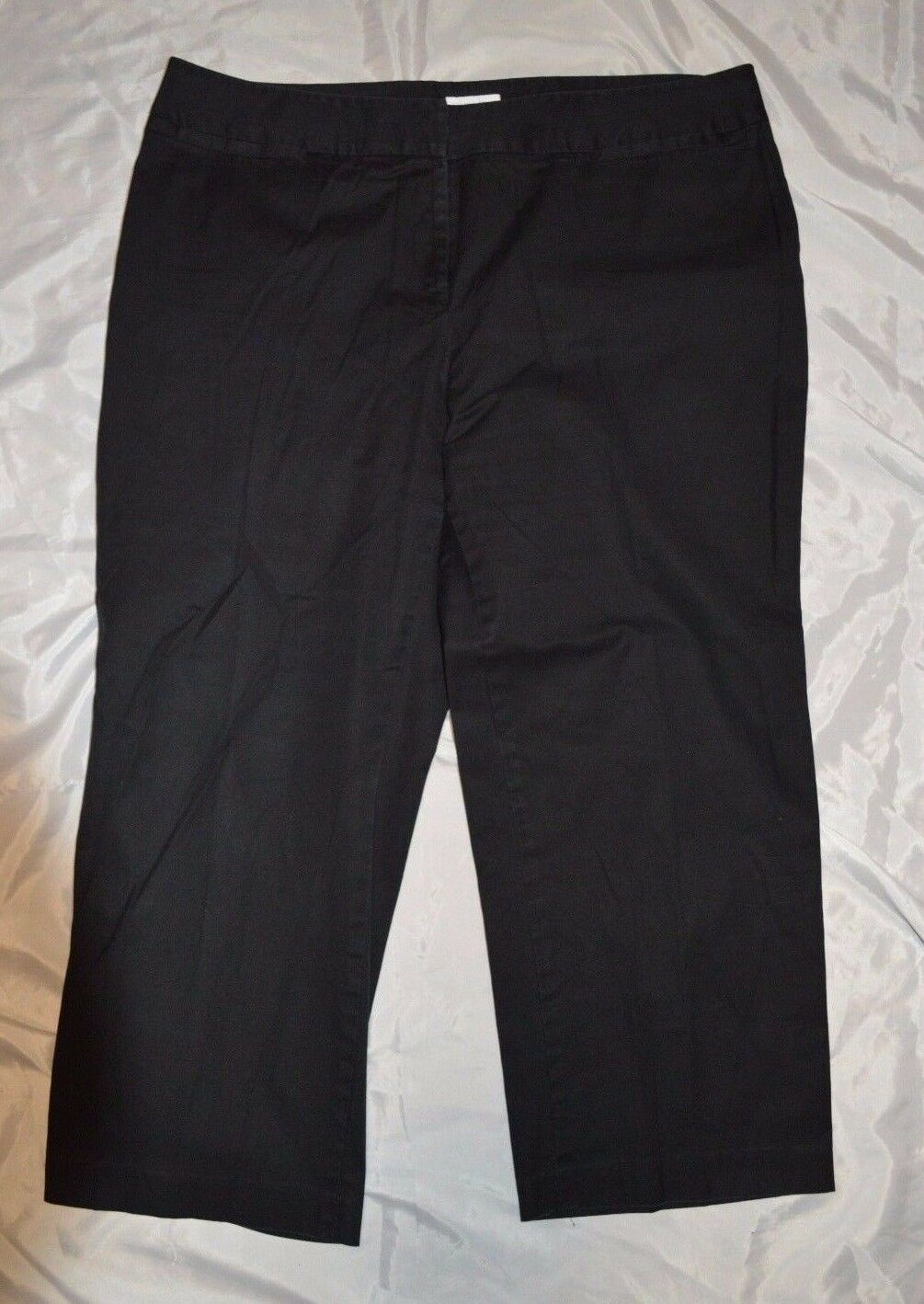 Women's Charter Club Petite Cropped Dress Pants ~ Black ~ Sz 18PW