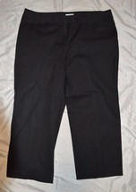 Women's Charter Club Petite Cropped Dress Pants ~ Black ~ Sz 18PW - $10.39
