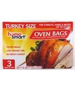 Home Smart Oven Bags, Turkey Size, Up To 24 lbs. (3 Bags And Ties) - $11.79