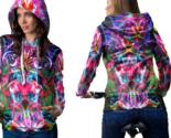 Psychedelic face magic mushroom spiritual trippy tongue dmt l hoodie women thumb155 crop