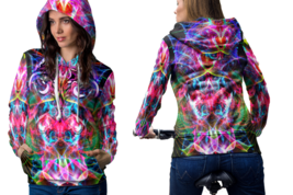 Psychedelic Face Magic Mushroom Spiritual Trippy Tongue DMT l Hoodie Women - $44.99
