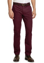 NEW MENS POLO RALPH LAUREN BURGUNDY STRETCH STRAIGHT FIT CHINO PANTS 35 ... - $39.59