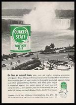 Quaker State Motor Oil 1959 Photo AD Niagara Falls - $9.99