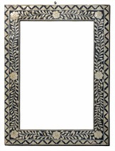 Frame Photo Wood Hand Carving  Inlay Vintage Collectible India MB544DP - $3.684,25 MXN