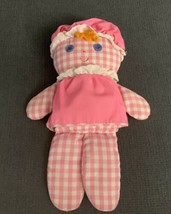 """12"""" VINTAGE FISHER PRICE LOLLY DOLLY PINK RATTLE 420 STUFFED ANIMAL PLUS... - $59.40"""
