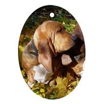 Cute Basset Hounds Puppy Puppies Dog Pet (Oval)... - $3.99