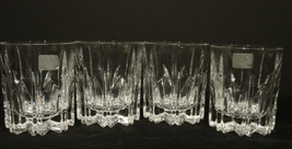 Set of 4 Mikasa BERKELEY  Pattern Old Fashioned Glasses  - $40.00