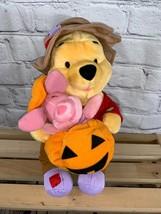 "Winnie the Pooh & Piglet 13"" Plush Halloween Friend 2001 Fisher Price Ma... - $12.99"