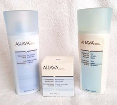 AHAVA Dead Sea Laboratories Smoothing Moisturizer Cleansing Milk Remover 3 Prods - $37.95