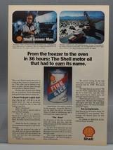 Vintage Magazine Ad Print Design Advertising Shell Motor Oil - $12.86