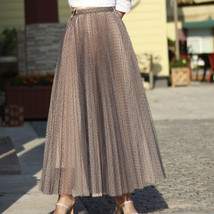 Women Full Pleated Long Skirt Pleated Tulle Tutu Skirt Party Tulle Outfits Plus  image 12