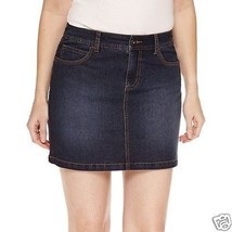 St. John's Bay Denim Skort Dark Wash Easy Fit Sizes 4, 6, 8, 10, 12, 14,... - $32.42