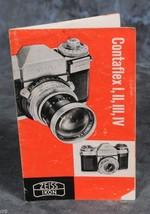 "Contaflex 1, II, III, IV Ad Booklet 4 panel foldout 3.5 x 5.75"" - $4.00"