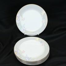 "Mikasa Charisma Gray Salad Plates 7.5"" Lot of 7 - $39.19"