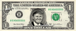 DONALD TRUMP on REAL Dollar Bill Cash Money Memorabilia Collectible Cele... - $6.50