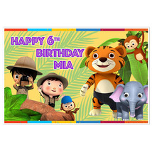 Safari Little Baby Bum Birthday Banner Party Decoration Backdrop - $22.28+