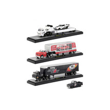 Auto Haulers Release 31, 3 Trucks Set 1/64 Diecast Models by M2 Machines... - $84.57