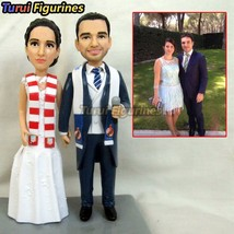 Figurines mr and mrs topper love resin miniature fantasy wedding cake to... - $148.00
