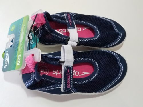 Speedo Toddler Girls - Mary Jane Water Shoes - Navy Blue - NWT