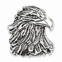 ANTIQUED STERLING SILVER EAGLE HEAD PENDANT / CHARM -  15.7  GRAMS - $58.88