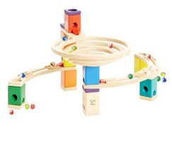 Quadrilla Wooden Marble Run Construction - The Roundabout - Quality Time Playing