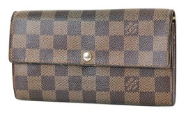 Auth LOUIS VUITTON Sarah Long Wallet Damier Ebene Zippered Coin Purse #3... - $175.50