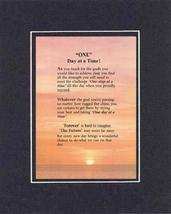 Touching and Heartfelt Poem for Inspirations - One Day at a Time Poem on... - $19.95