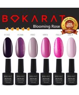 Bokarat Soak Off UV LED Gel Nail Polish 7.3ml x 6pcs Supper Set ~Bloomin... - $21.99