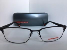 New Prada Vps 50F VPS50F UBY-1O1 Matte Gunmetal 56mm Eyeglasses Frame Italy - $134.99