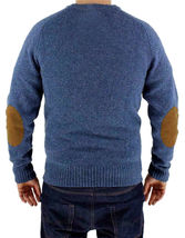 Levi's Men's Wool Pullover Crew Neck Elbow Patch Sweater New w/Defect S image 4