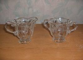 Vintage Fostoria Crystal Glass Chintz Baroque Individual Creamer Open Su... - $44.55