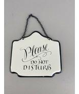 Metal Please Do Not Disturb Hanging Sign - $98.99