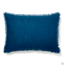 Hearth & Hand with Magnolia Raw Edge Throw Pillow Navy Blue 14 in x 20 in - $24.74