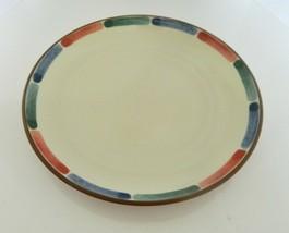 Noritake Stoneware Dinner Plate Warm Sands Pattern Blue Green Terra Cott... - $21.66