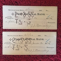 4 Mpls Brewing Co- First & Security National Bank Canceled Checks (1918/1922) image 4
