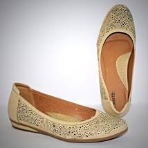 Earth Celeste Biscuit Shoes 11 Beige Wedges Beige Leather Slip On Natura... - $34.60