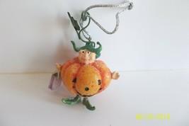 Krinkles Mini Ornament Patience Brewster Trick or Treat Little Pumpkin Man - £9.87 GBP