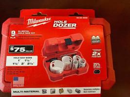 NEW Milwaukee 49-22-4009 Hole Dozer General Purpose Bi-Metal Hole Saw Se... - $38.61