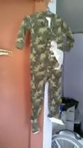 Carters 1-Piece DINOSAUR  Cotton PJs Footed Pajamas Sleeper Camo  3T - $14.99