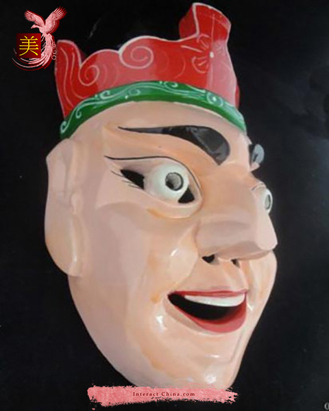 Chinese Home Wall Décor Ritual Dance Mask 100% Wood Craft Folk Art #109 Pro
