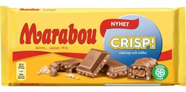 Marabou CRISP! 185g Made in Sweden (SET OF 8 bars, 185 x 8 = 1480g) - $39.59