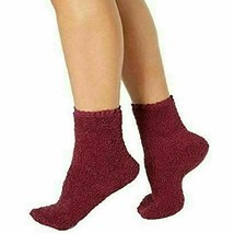 Charter Club Women's Super Soft Burgundy Lace Trim Socks Size 9-11 NEW w Tag Bow
