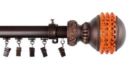 Rod Desyne Home Window Decorative Gemstone Traverse Rod 110-156 inch - Cocoa - $131.72