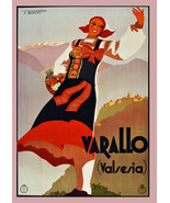 """20x30""""Poster on Canvas.Home Room Interior design.Travel Italy.Varallo.6537 - $60.78"""