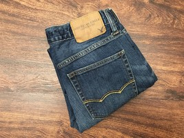 AMERICAN EAGLE Skinny Leg Mid Rise Dark Wash Blue Denim Jeans Men Size W... - $451,02 MXN