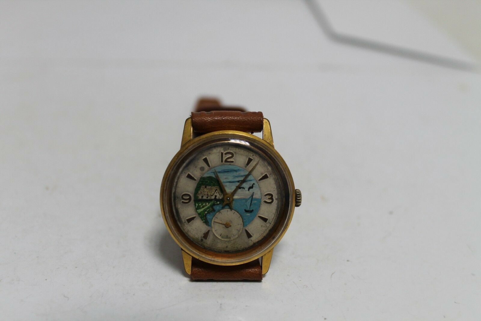 Primary image for Vintage Old Soviet Russian Made Raketa (Rocket) Gold Plated Men's Wrist Watch