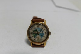 Vintage Old Soviet Russian Made Raketa (Rocket) Gold Plated Men's Wrist ... - $52.57